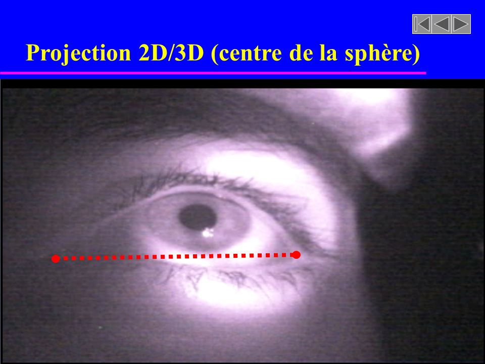 Projection 2D/3D (centre de la sphère)