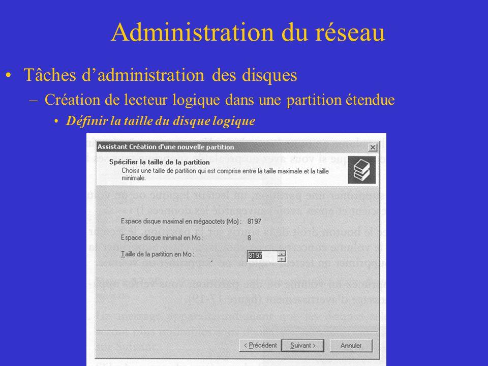 Administration du réseau