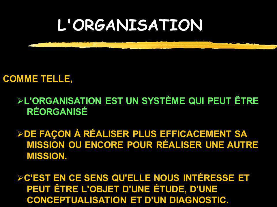 L ORGANISATION COMME TELLE,