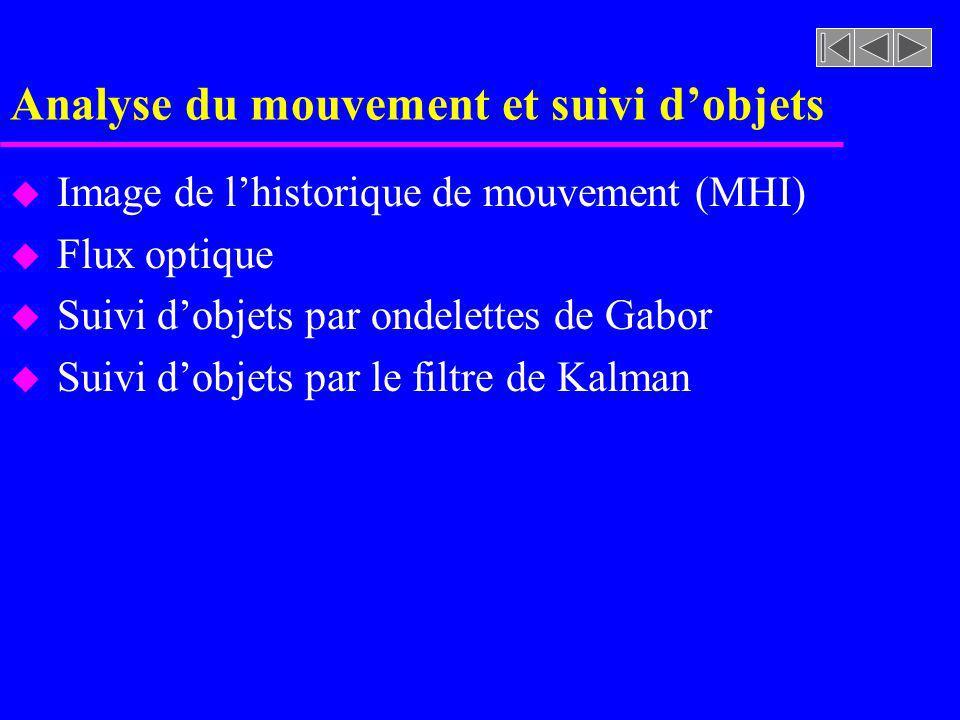 Analyse du mouvement et suivi d'objets