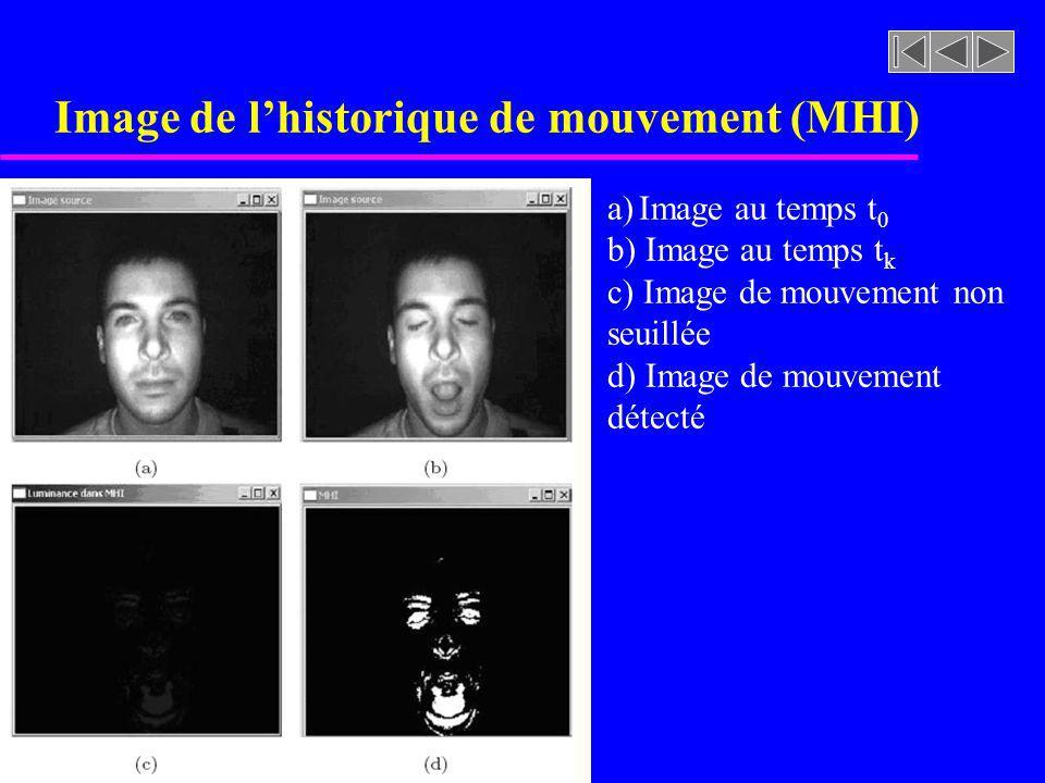 Image de l'historique de mouvement (MHI)
