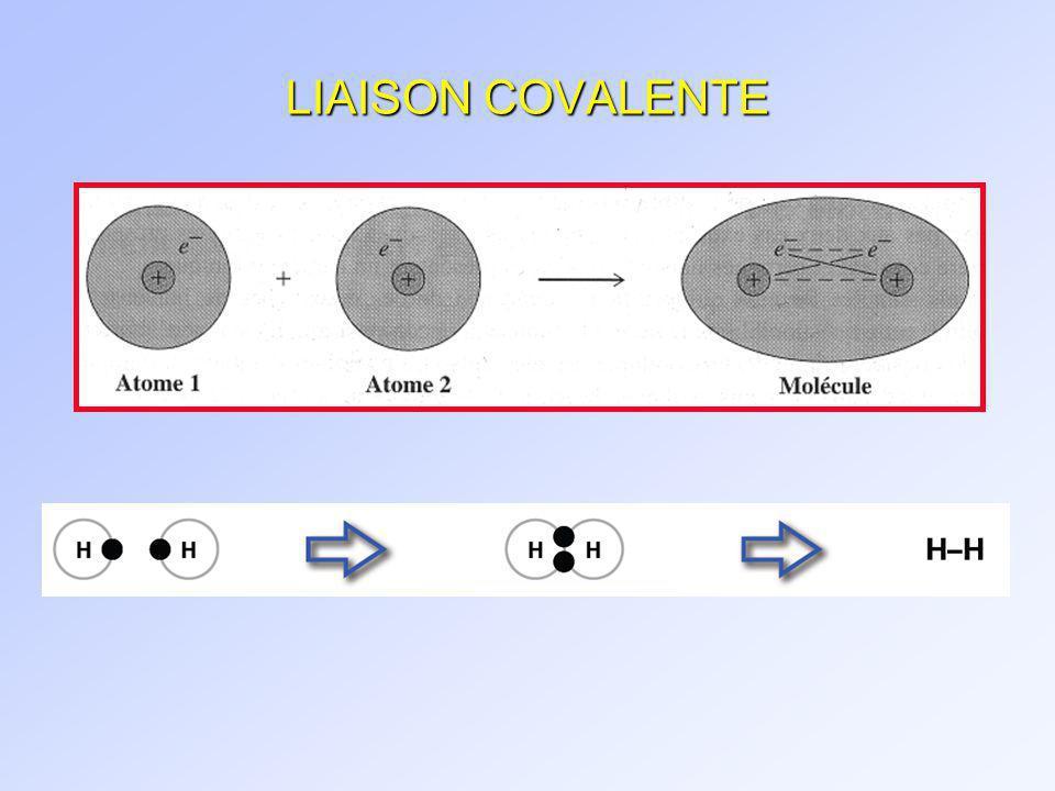 LIAISON COVALENTE