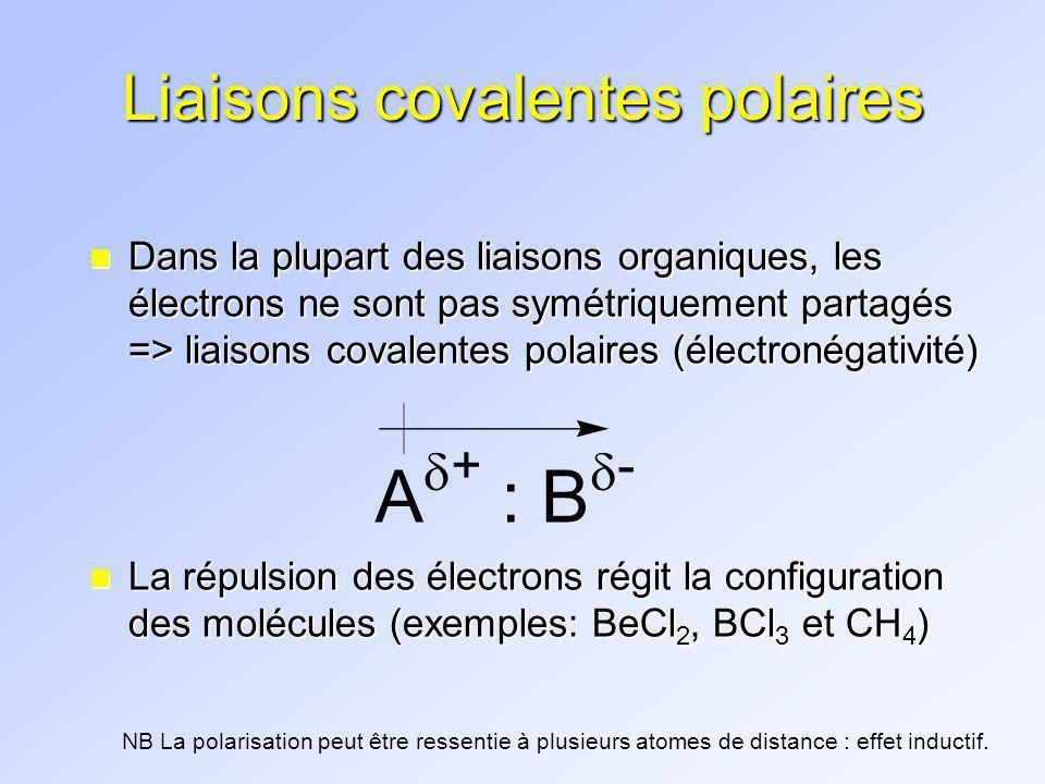 Liaisons covalentes polaires