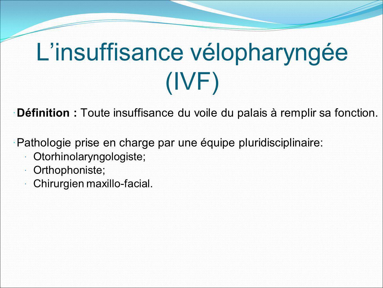 L'insuffisance vélopharyngée (IVF)