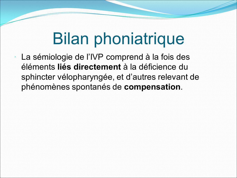 Bilan phoniatrique