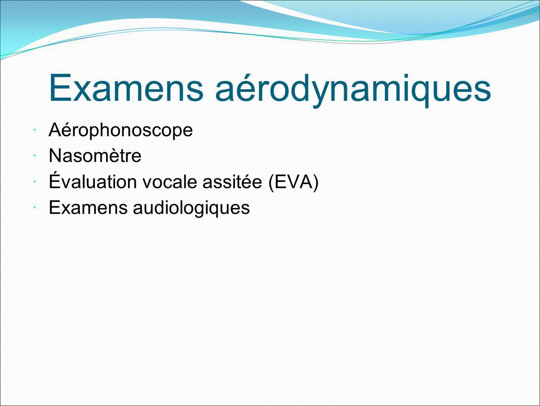 Examens aérodynamiques