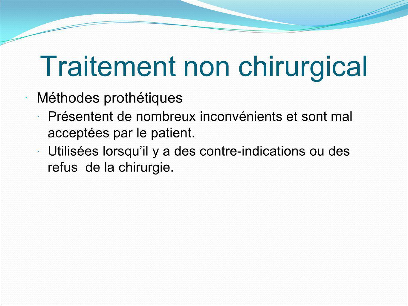 Traitement non chirurgical
