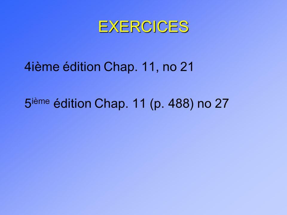 EXERCICES 4ième édition Chap. 11, no 21