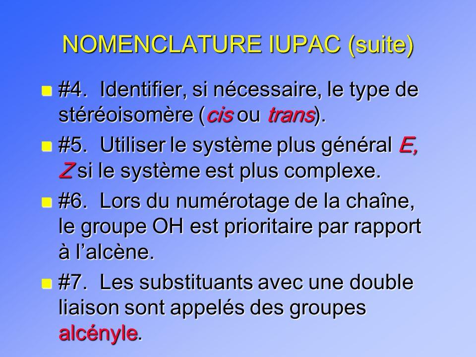 NOMENCLATURE IUPAC (suite)