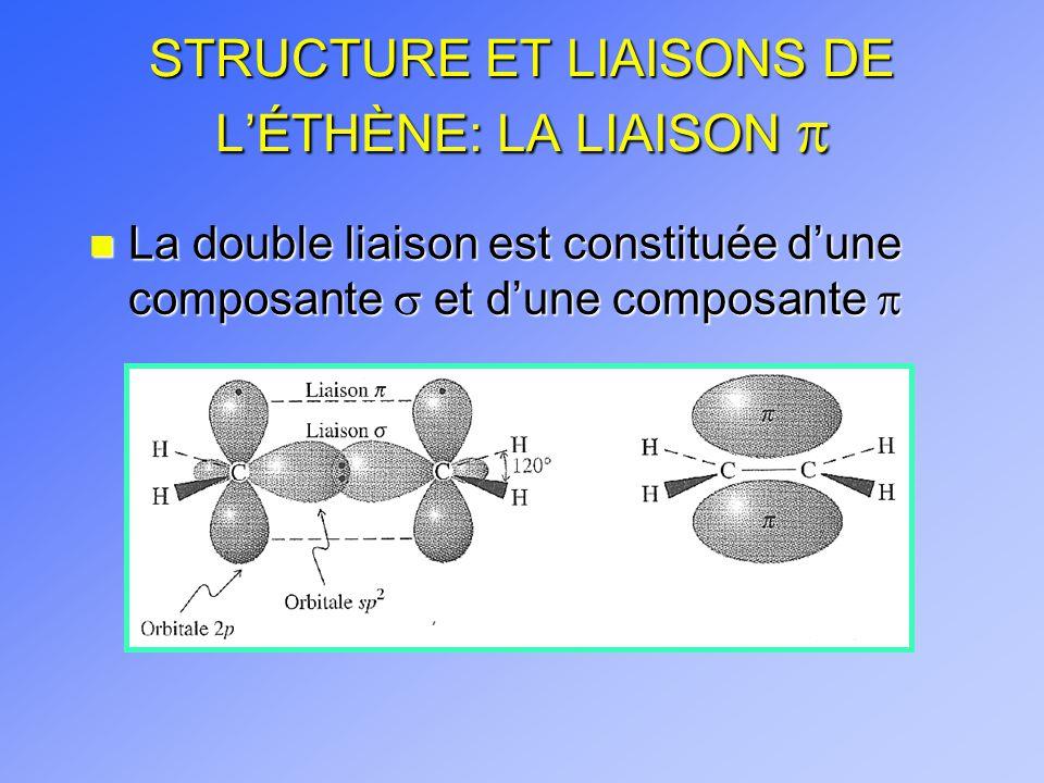 STRUCTURE ET LIAISONS DE L'ÉTHÈNE: LA LIAISON p