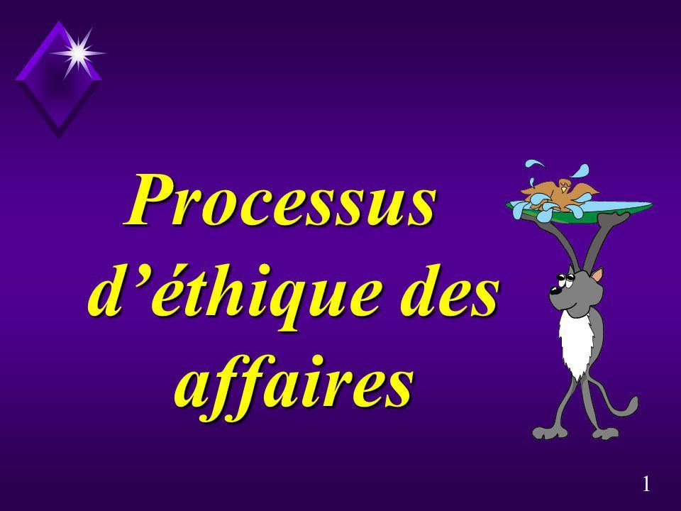 Processus d'éthique des affaires