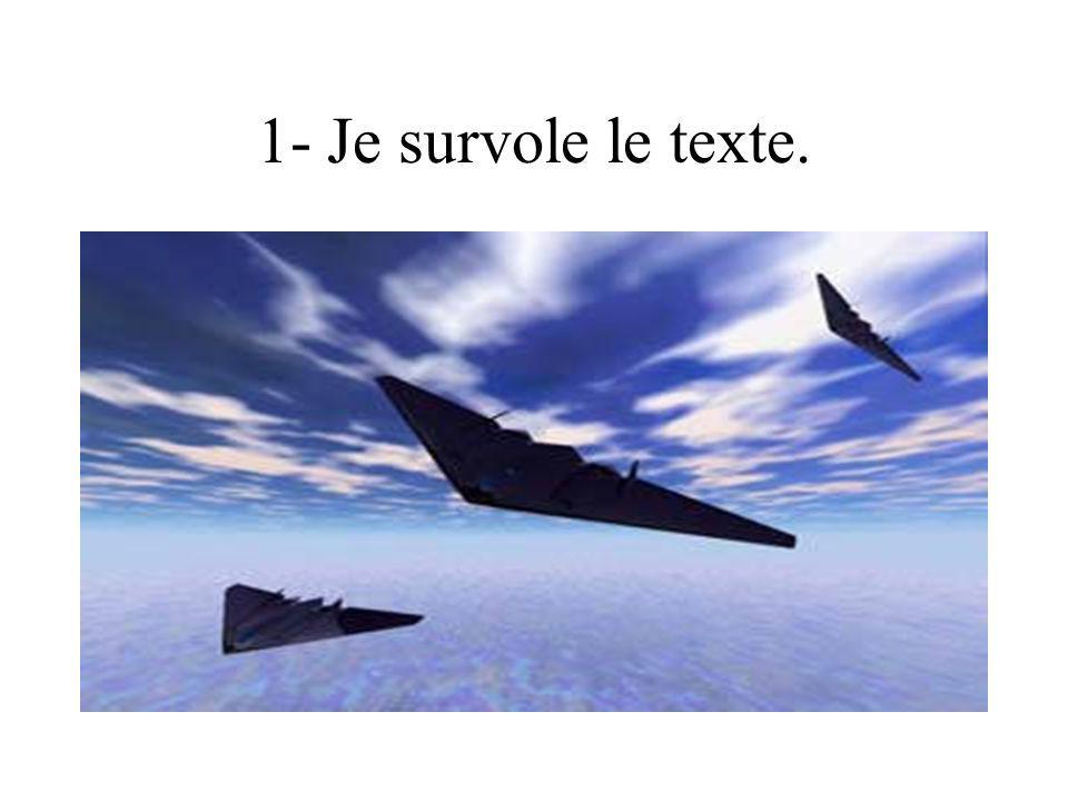 1- Je survole le texte.