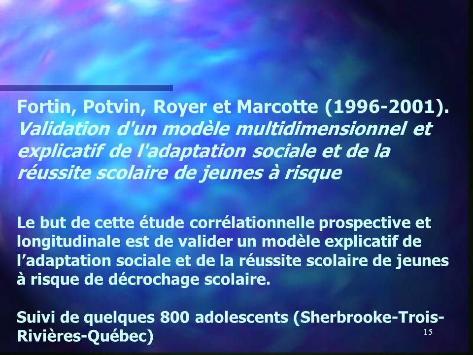 Fortin, Potvin, Royer et Marcotte (1996-2001)
