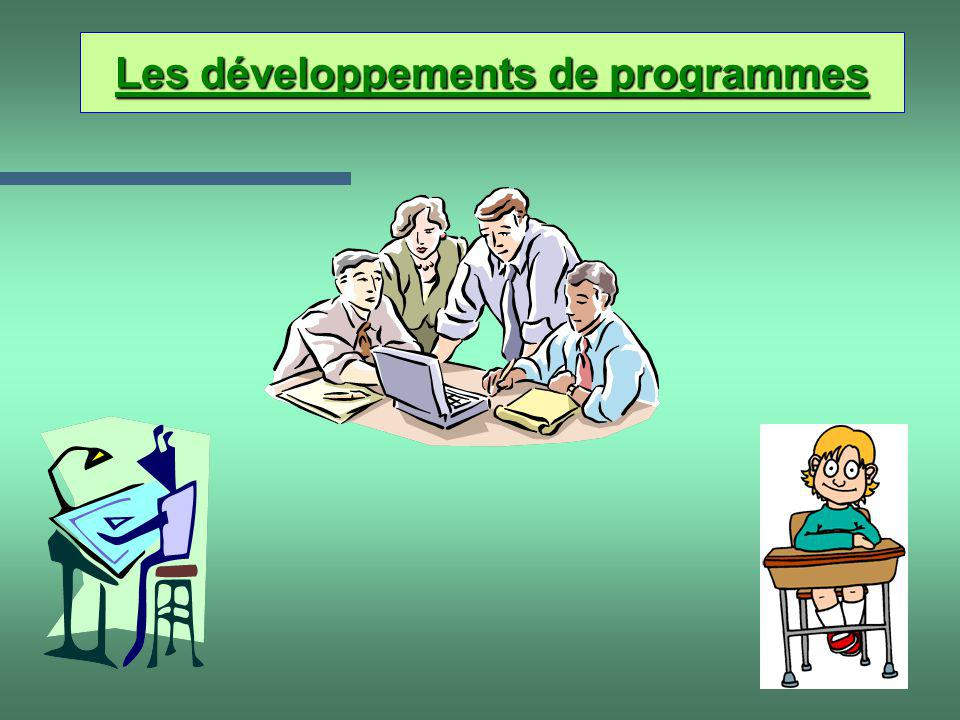 Les développements de programmes