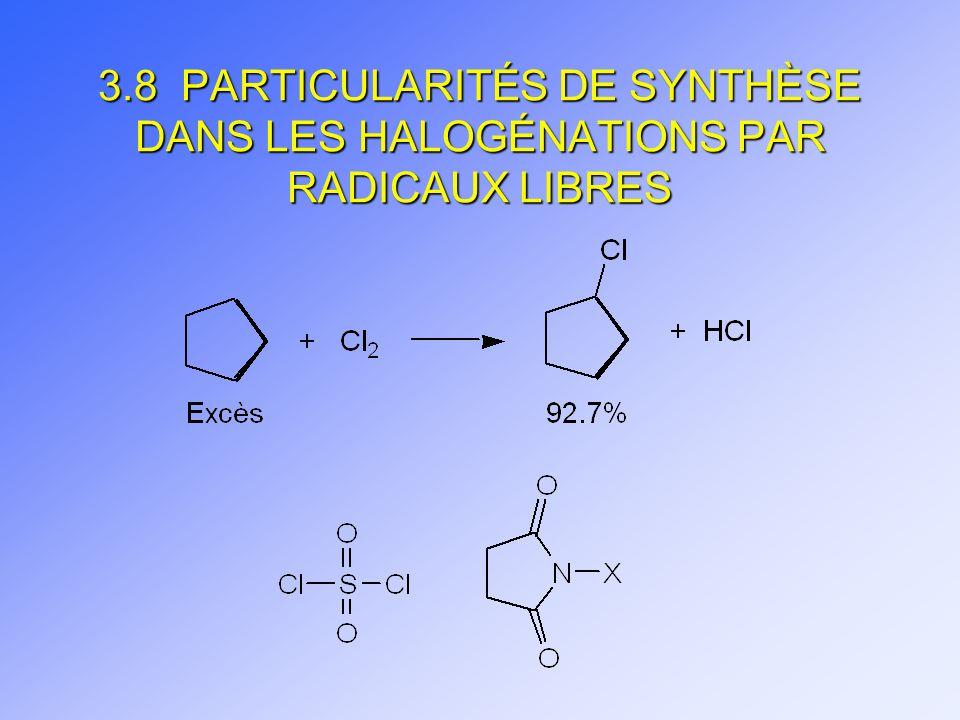 3.8 PARTICULARITÉS DE SYNTHÈSE DANS LES HALOGÉNATIONS PAR RADICAUX LIBRES