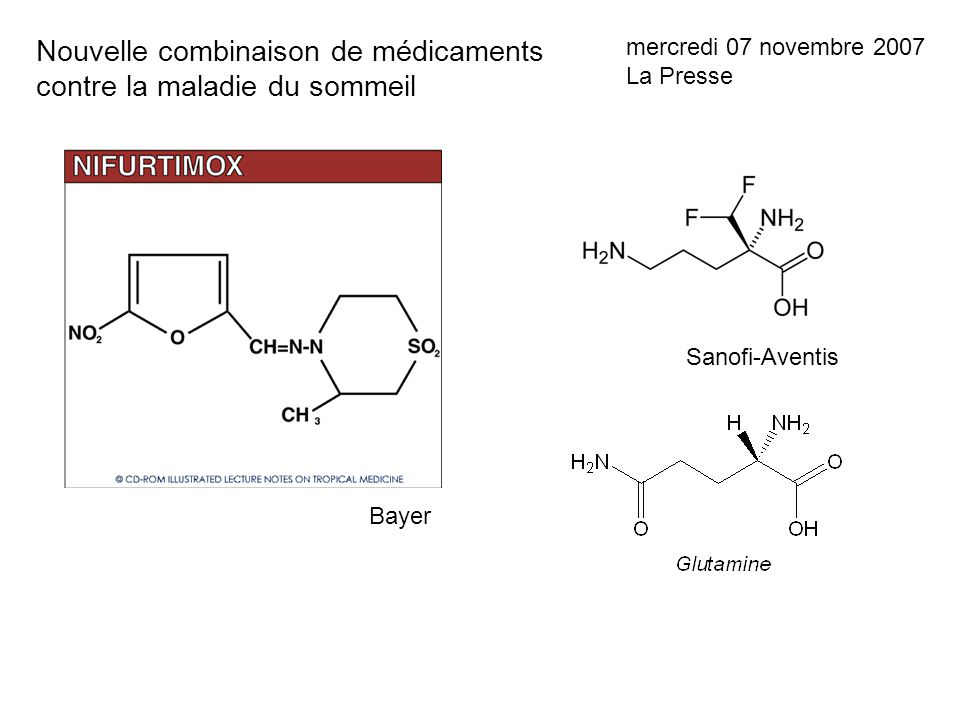 Nouvelle combinaison de médicaments contre la maladie du sommeil