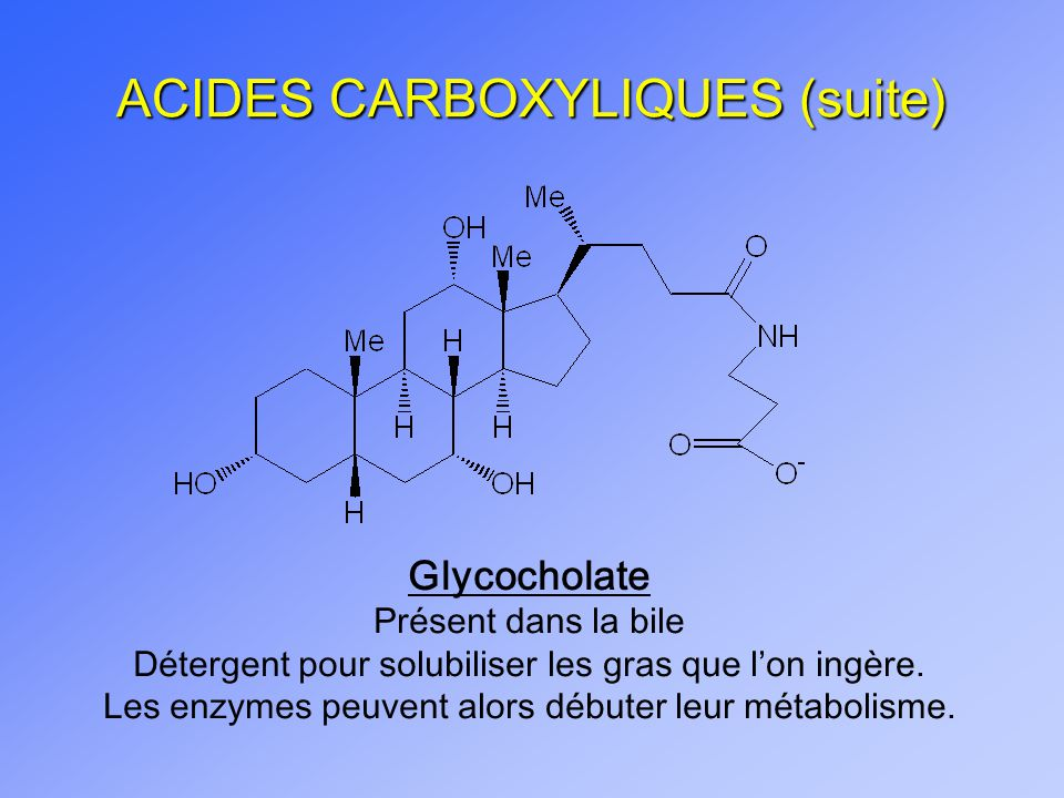 ACIDES CARBOXYLIQUES (suite)