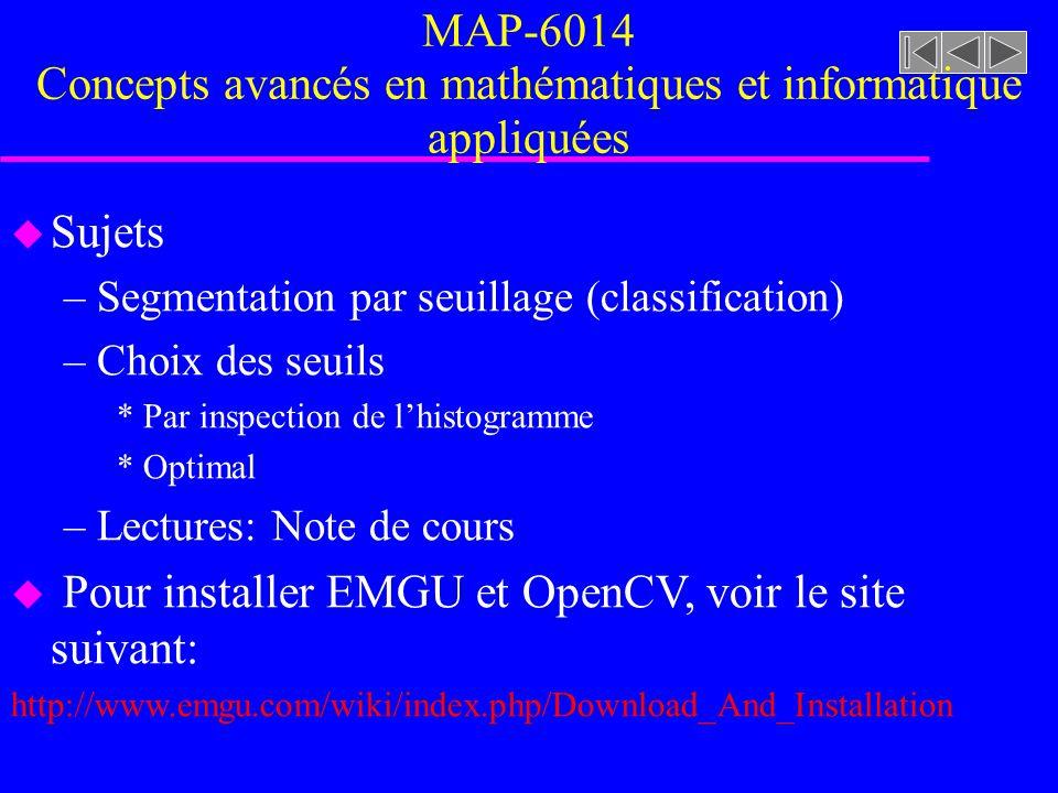 MAP-6014 Concepts avancés en mathématiques et informatique appliquées