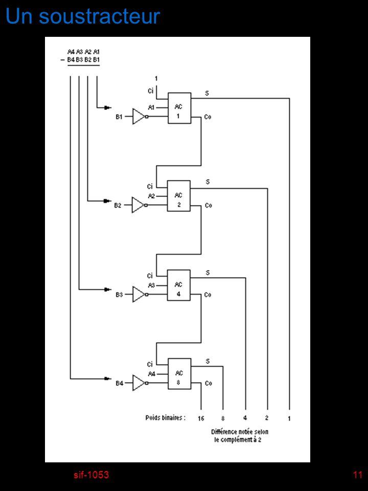 Un soustracteur sif-1053