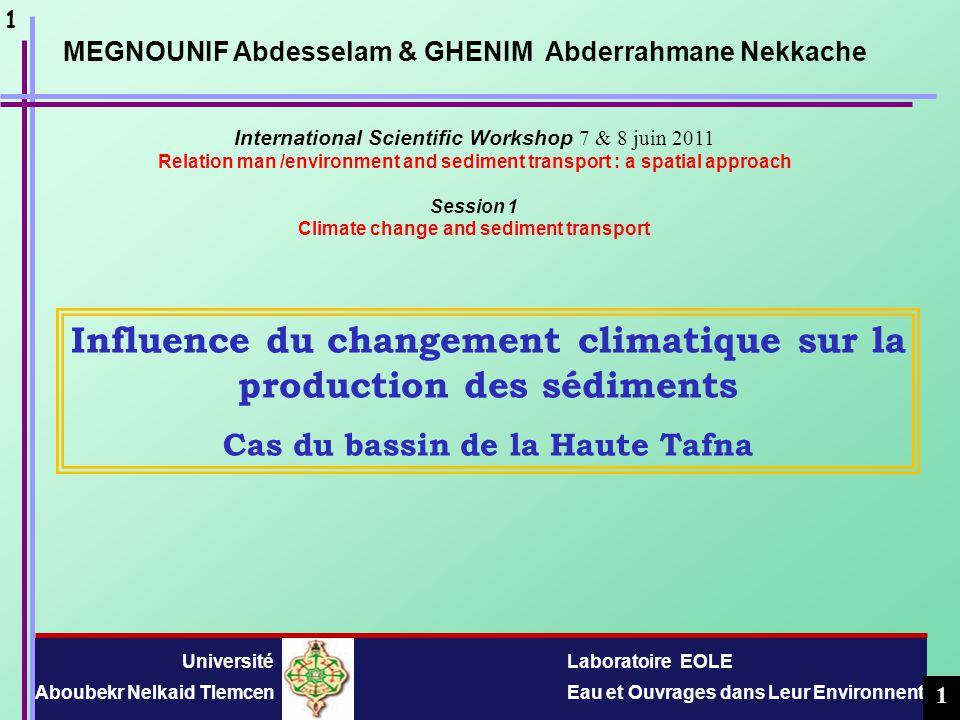 Influence du changement climatique sur la production des sédiments