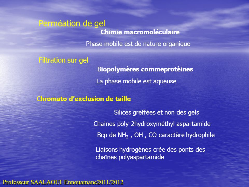 Chimie macromoléculaire