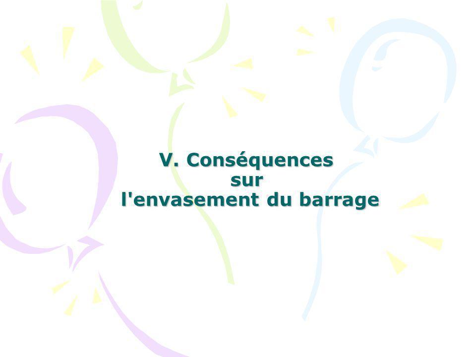 V. Conséquences sur l envasement du barrage