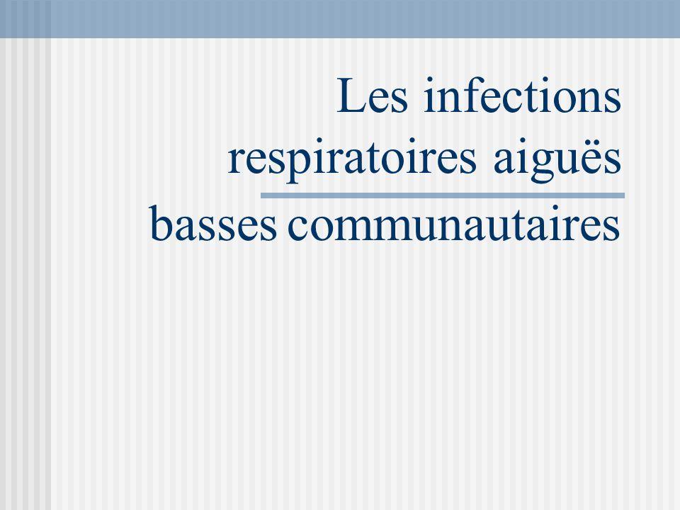 Les infections respiratoires aiguës