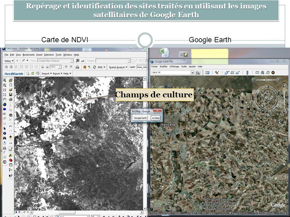 Repérage et identification des sites traités en utilisant les images satellitaires de Google Earth