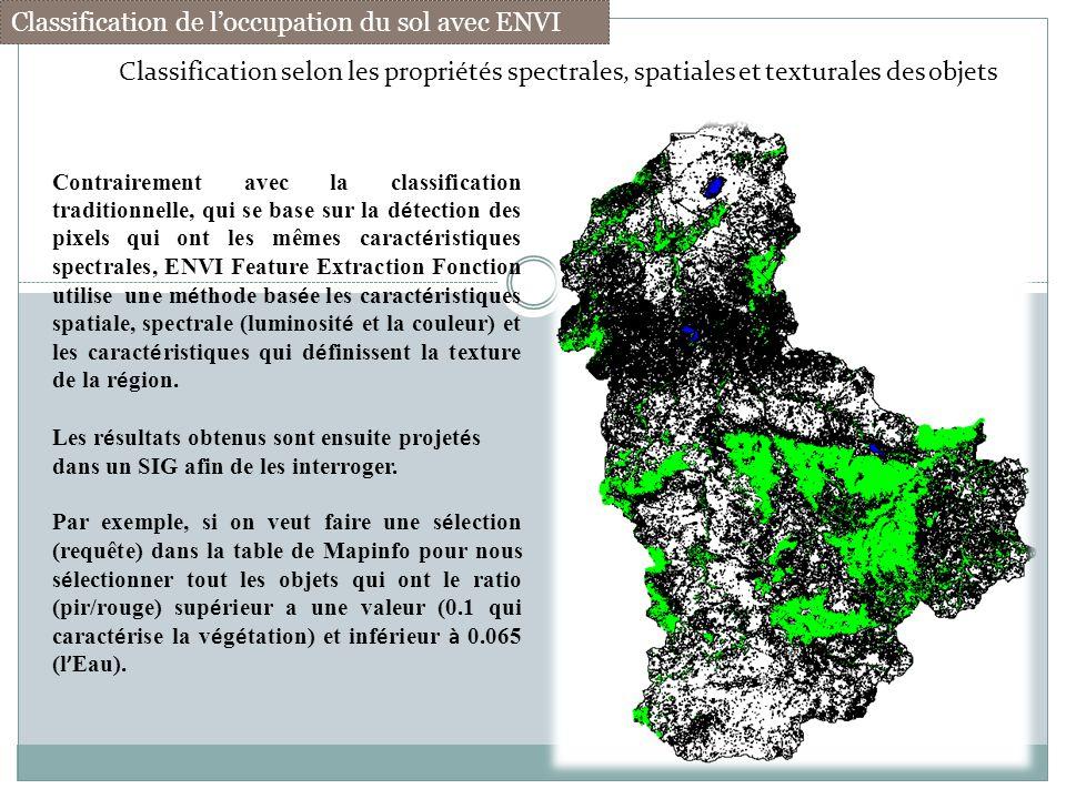 Classification de l'occupation du sol avec ENVI