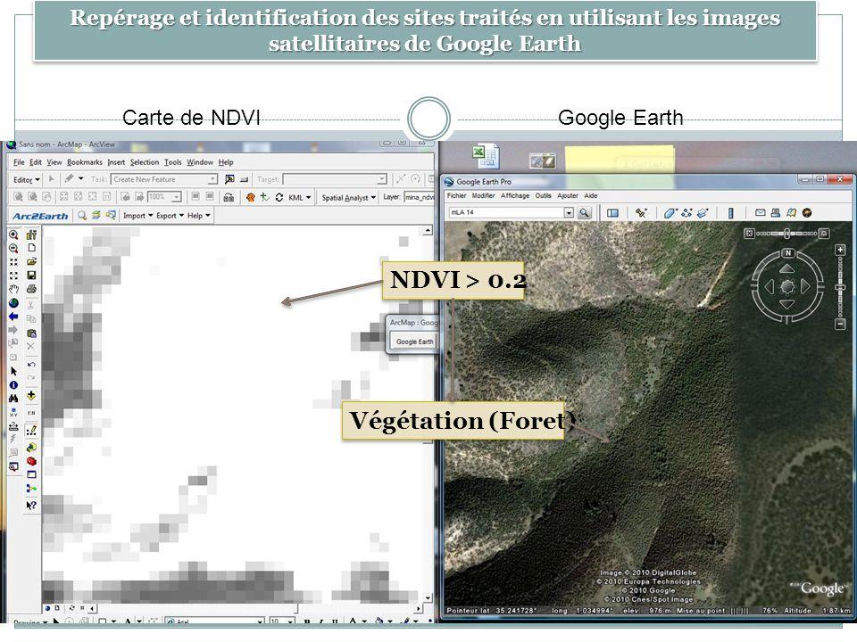 NDVI > 0.2 Végétation (Foret)