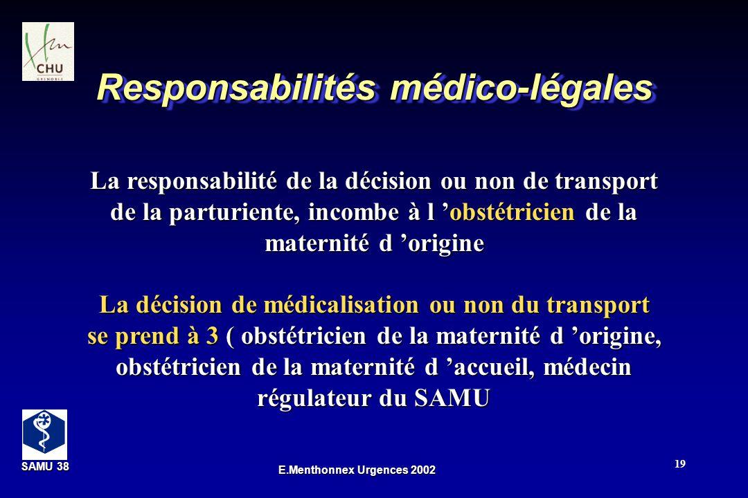 Responsabilités médico-légales