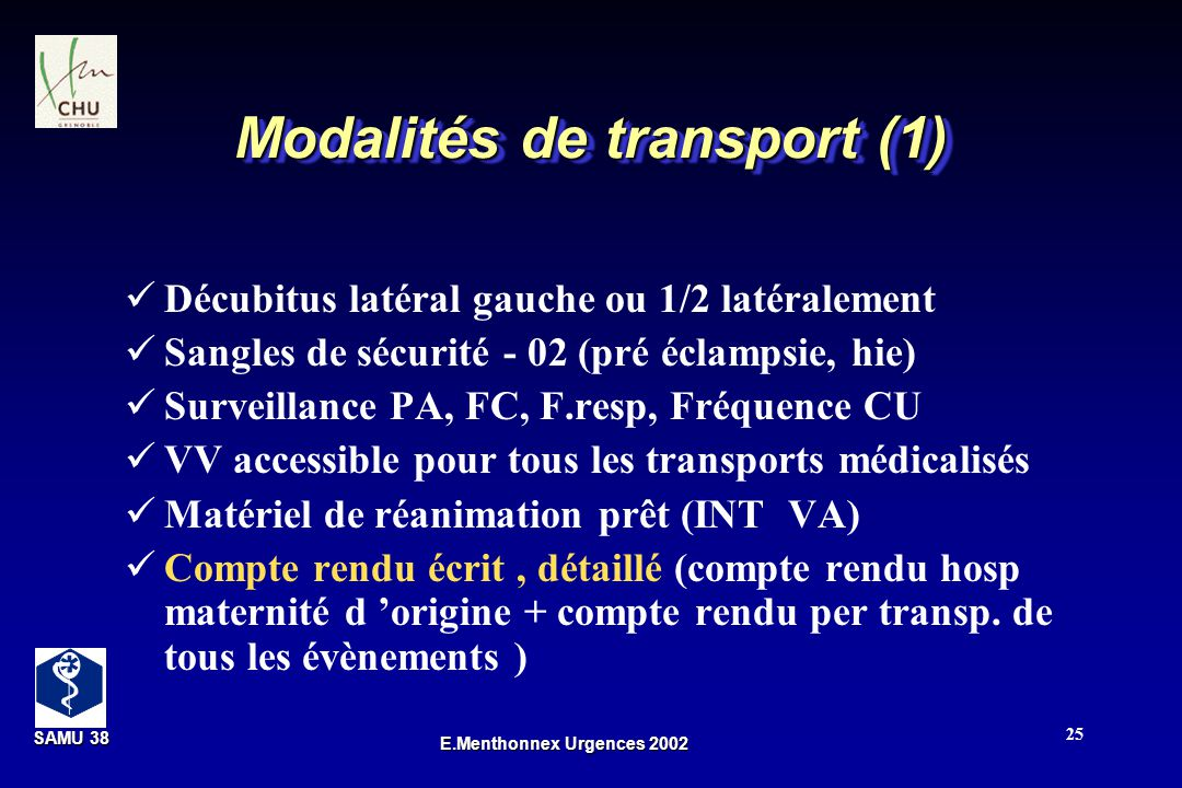 Modalités de transport (1)