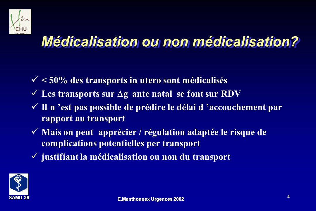 Médicalisation ou non médicalisation