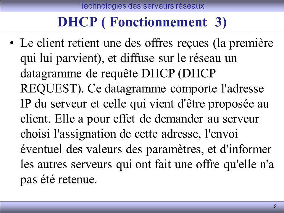 DHCP ( Fonctionnement 3)