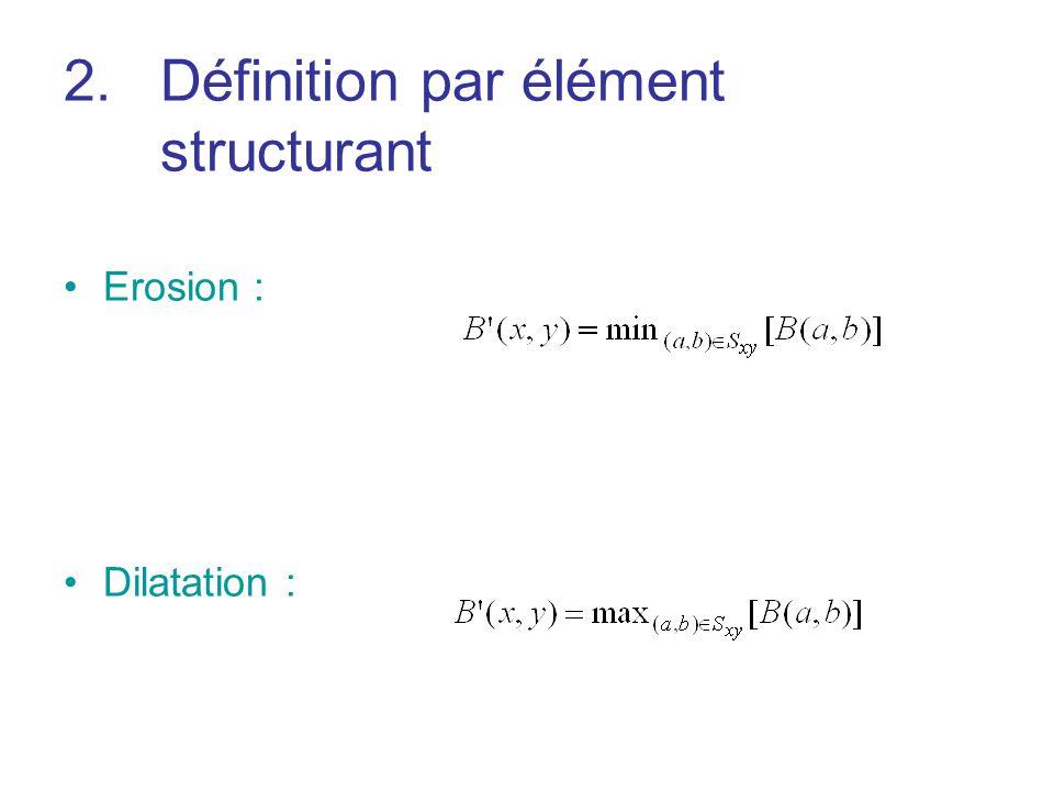 Définition par élément structurant