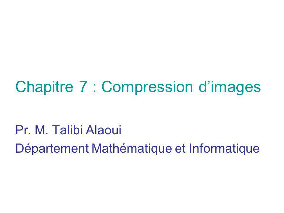 Pr. M. Talibi Alaoui Département Mathématique et Informatique