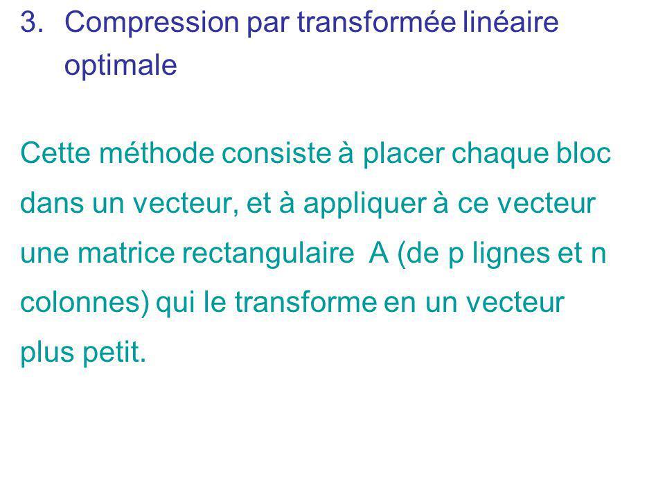 Compression par transformée linéaire