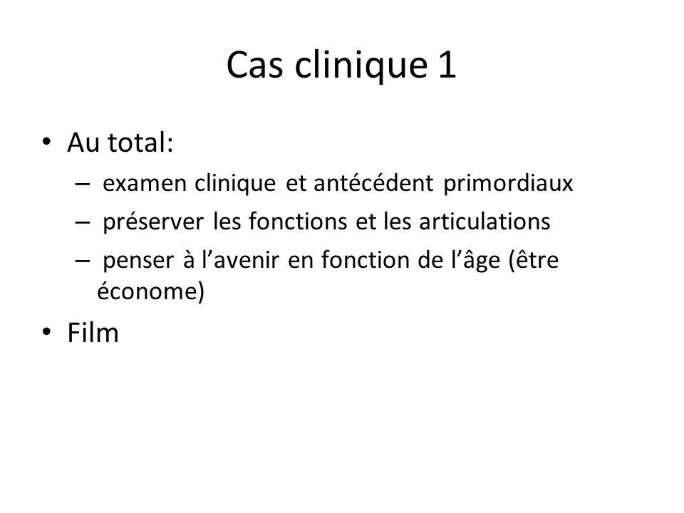 Cas clinique 1 Au total: Film