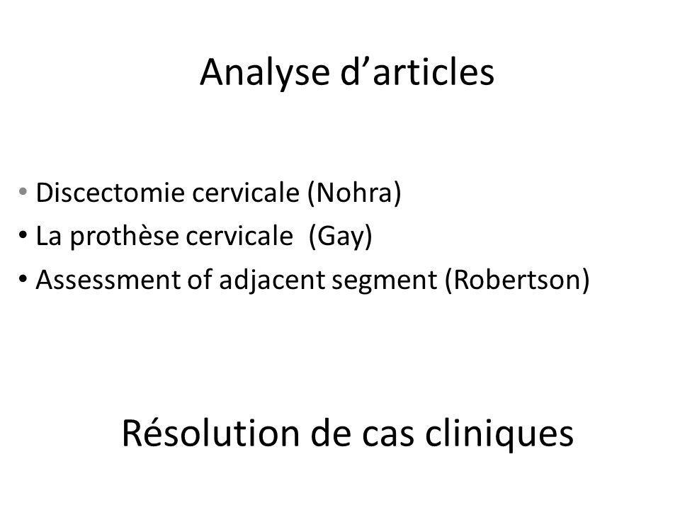 Résolution de cas cliniques