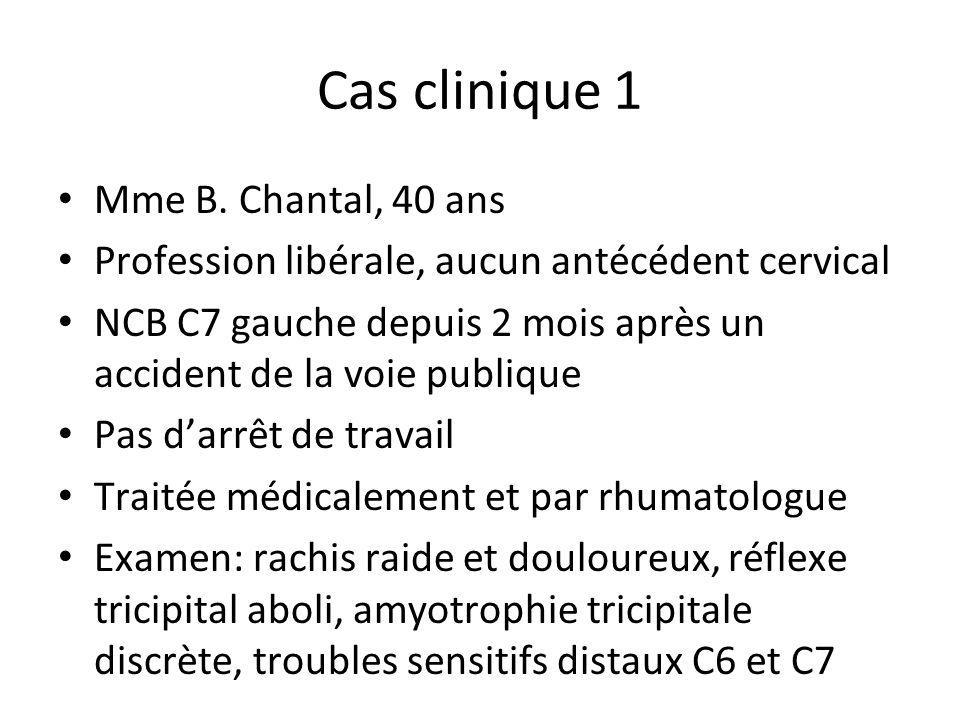 Cas clinique 1 Mme B. Chantal, 40 ans