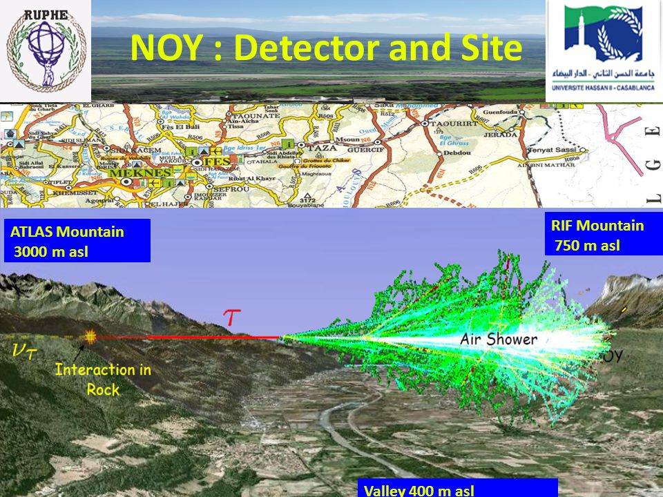 NOY : Detector and Site RIF Mountain ATLAS Mountain 750 m asl