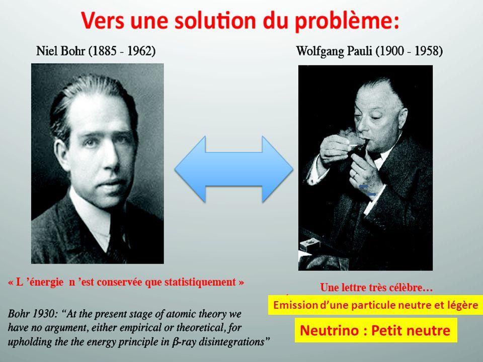 Neutrino : Petit neutre