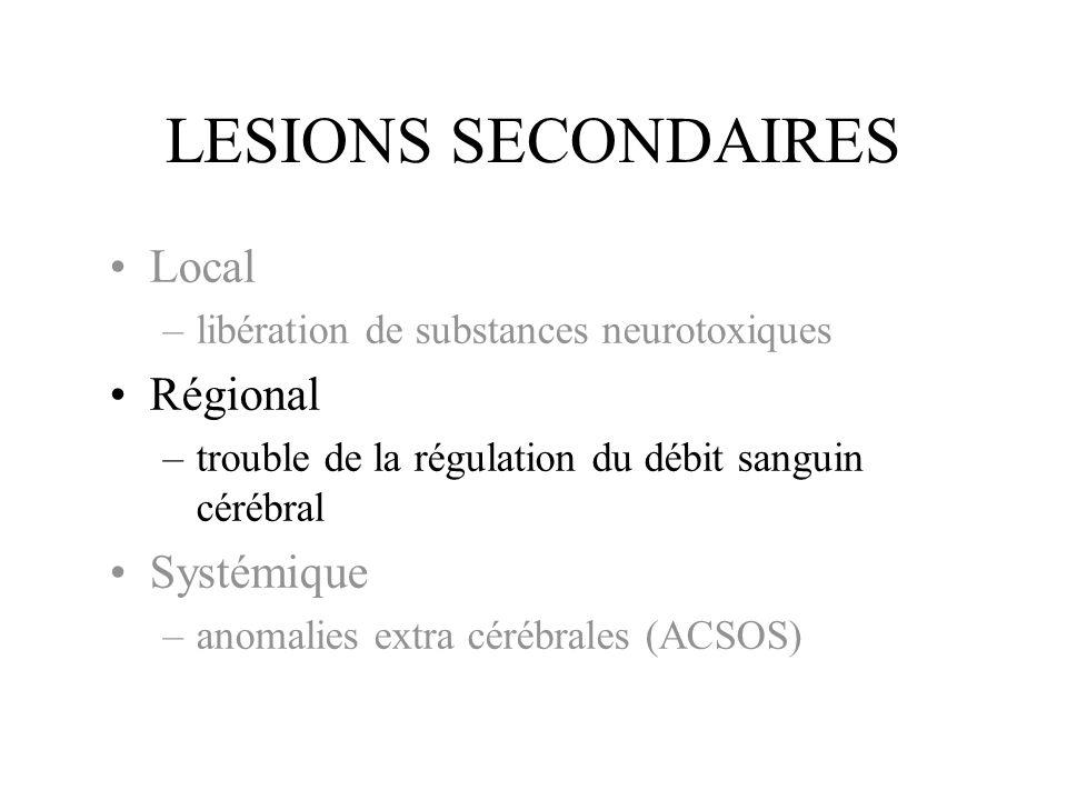 LESIONS SECONDAIRES Local Régional Systémique