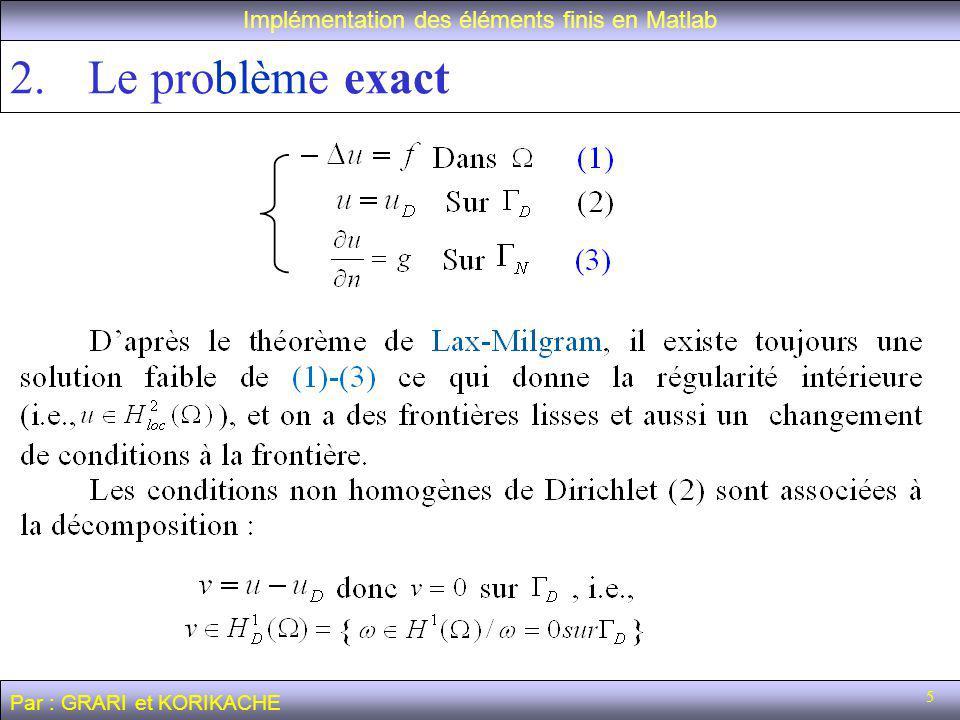 Implémentation des éléments finis en Matlab