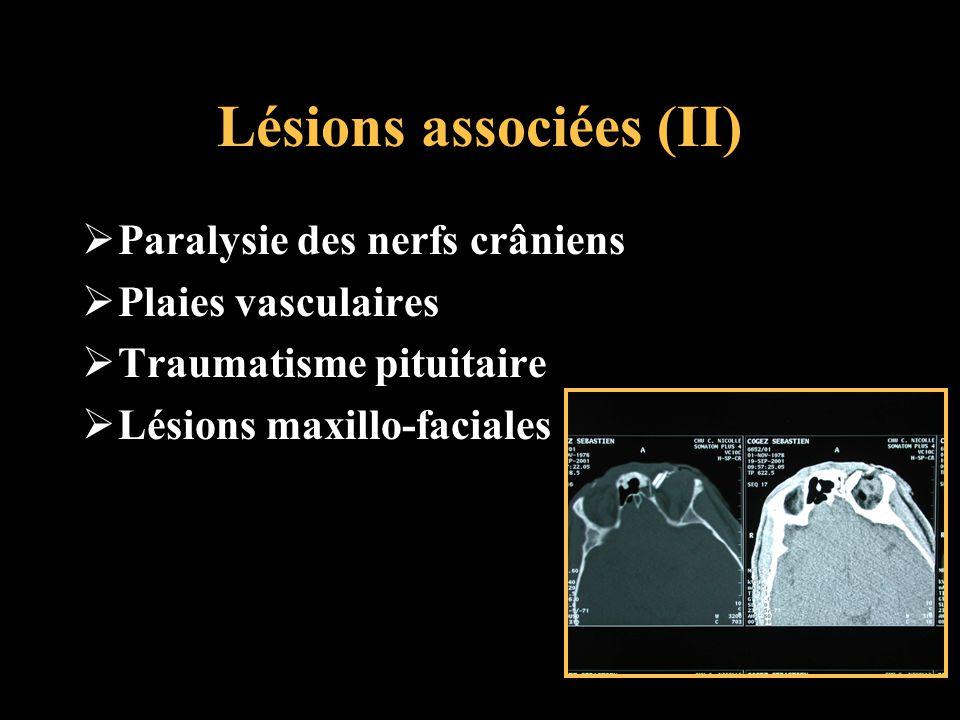 Lésions associées (II)