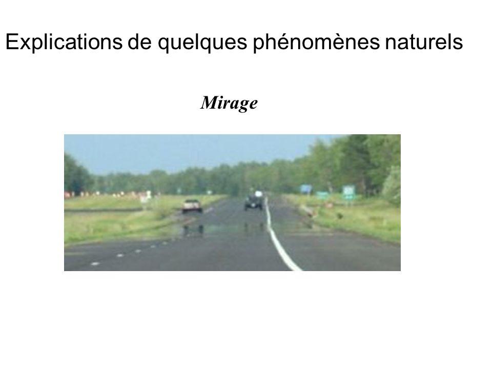 Explications de quelques phénomènes naturels