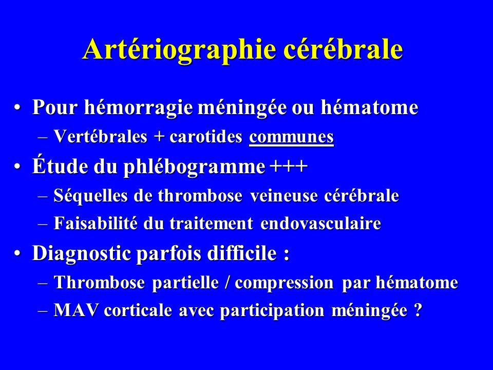 Artériographie cérébrale