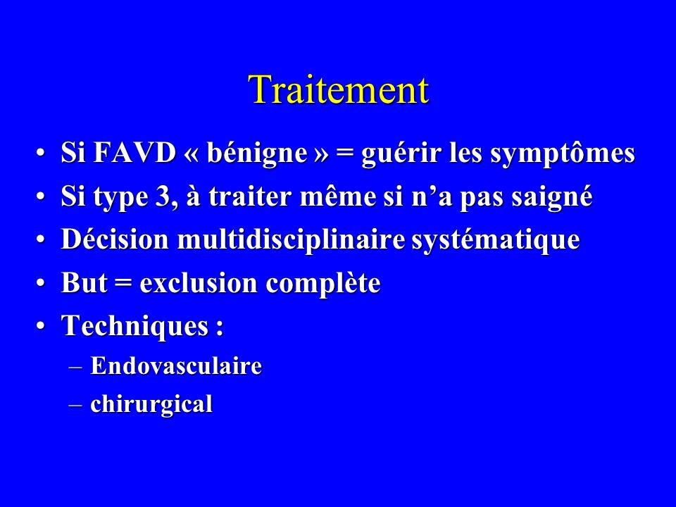 Traitement Si FAVD « bénigne » = guérir les symptômes