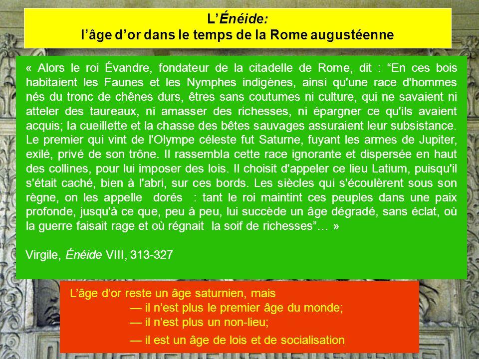 l'âge d'or dans le temps de la Rome augustéenne
