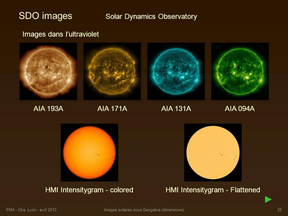 SDO images ► Solar Dynamics Observatory Images dans l'ultraviolet